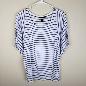 Dana Buchman | Short Sleeve Striped Top